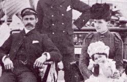 Captain and Mrs Leslie on board the Harriet McGregor