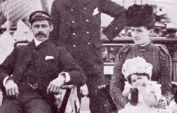Captain and Mrs Leslie on board the Harriet McGregor