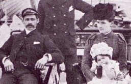 Captain and Mrs Leslie on board the Harriet McGregor 1871