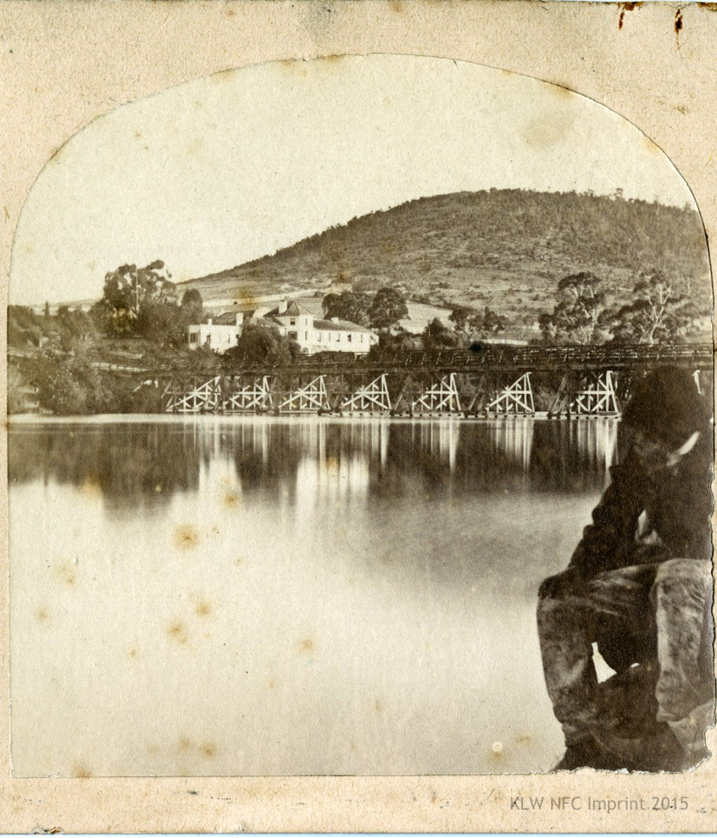 Bridge over the Derwent at New Norfolk 1850s-1890s