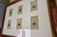 Prisoner cdvs taken by T. J. Nevin 1870s under glass at the TMAG