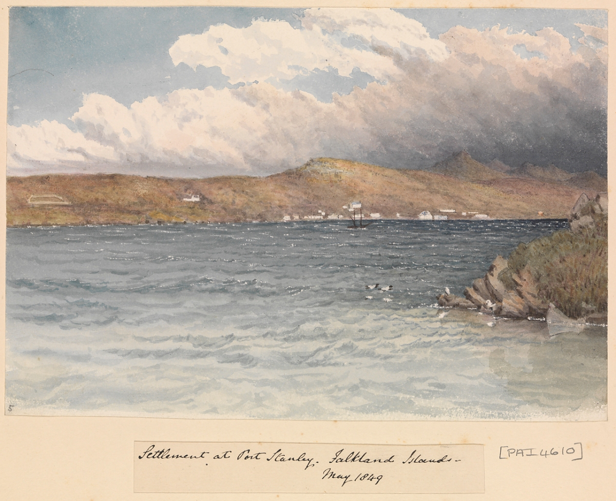 Captain Edward Goldsmith: Falkland Islands 1839