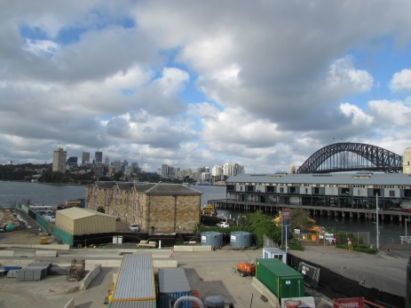 Towns Wharf, numbered as Pier 8, and the Port Authority building, Towns Place, Sydney Harbour NSW