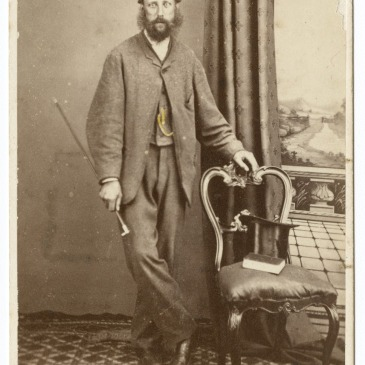 Alfred Barrett Biggs, photo by T. J. Nevin ca. 1874