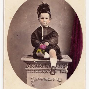 Camille Del Sarte family, Tasmania. cdv by Thomas J. Nevin 1860s-1870s