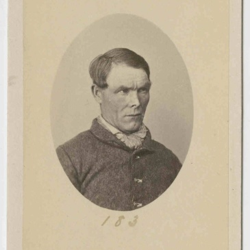 Prisoner James Martin, mugshot by T. J. Nevin 1874