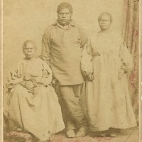 Reproductions of Charles A. Woolley's portrait of Tasmanian Aborigines 1860s-1915