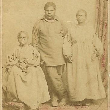 Tasmanian Aborigines, photo by Charles A.Woolley 1866