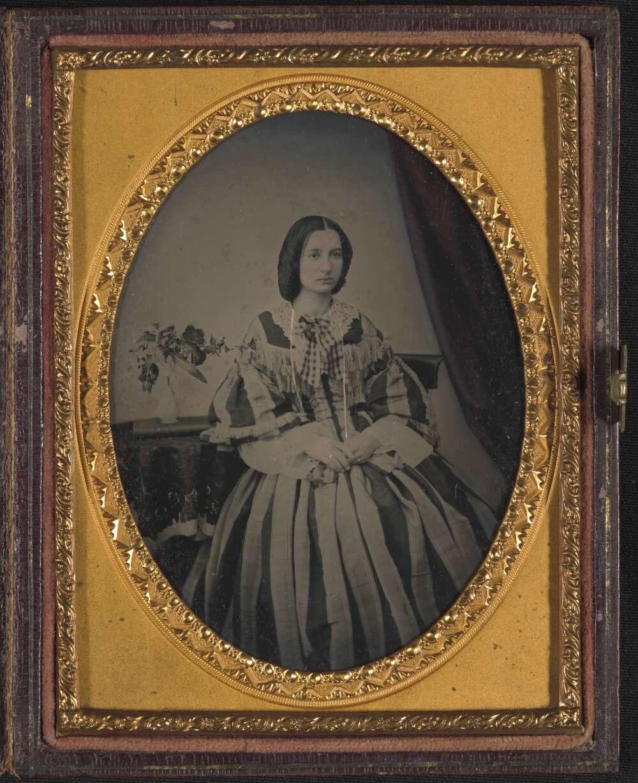 Matilda Cherry nee James, ambrotype by her hsuband George Cherry 1850s