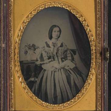 Matilda Cherry nee James, ambrotype by her hsuband George Cherry 1850s