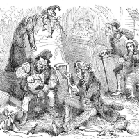 Captain Edward Goldsmith and friends, 1849