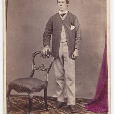 Young man at Nevin & Smith's studio, Hobart 1868